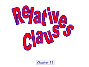 relativeClauses